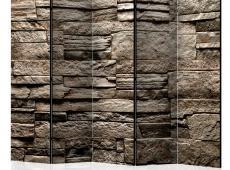 Paraván - Beautiful Brown Stone II [Room Dividers]
